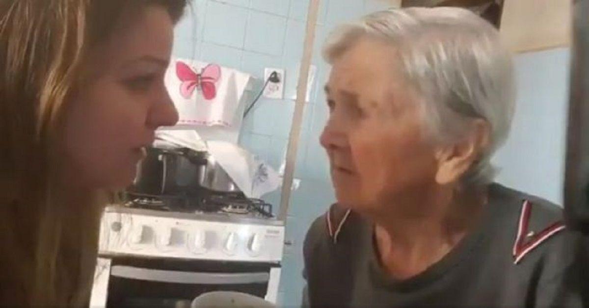 Nonna con l'Alzheimer, riconosce la nipote e le dice – Ti amo –