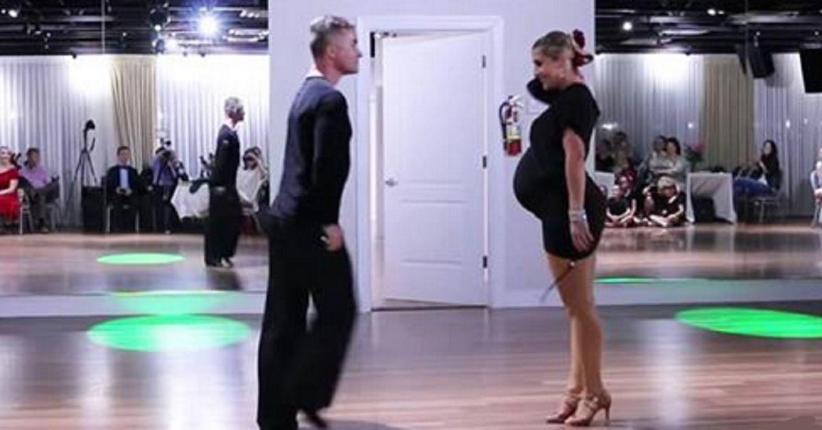 È difficile credere che possa muoversi così a 35 settimane di gravidanza – La sua performance ha lasciato tutti sbalorditi