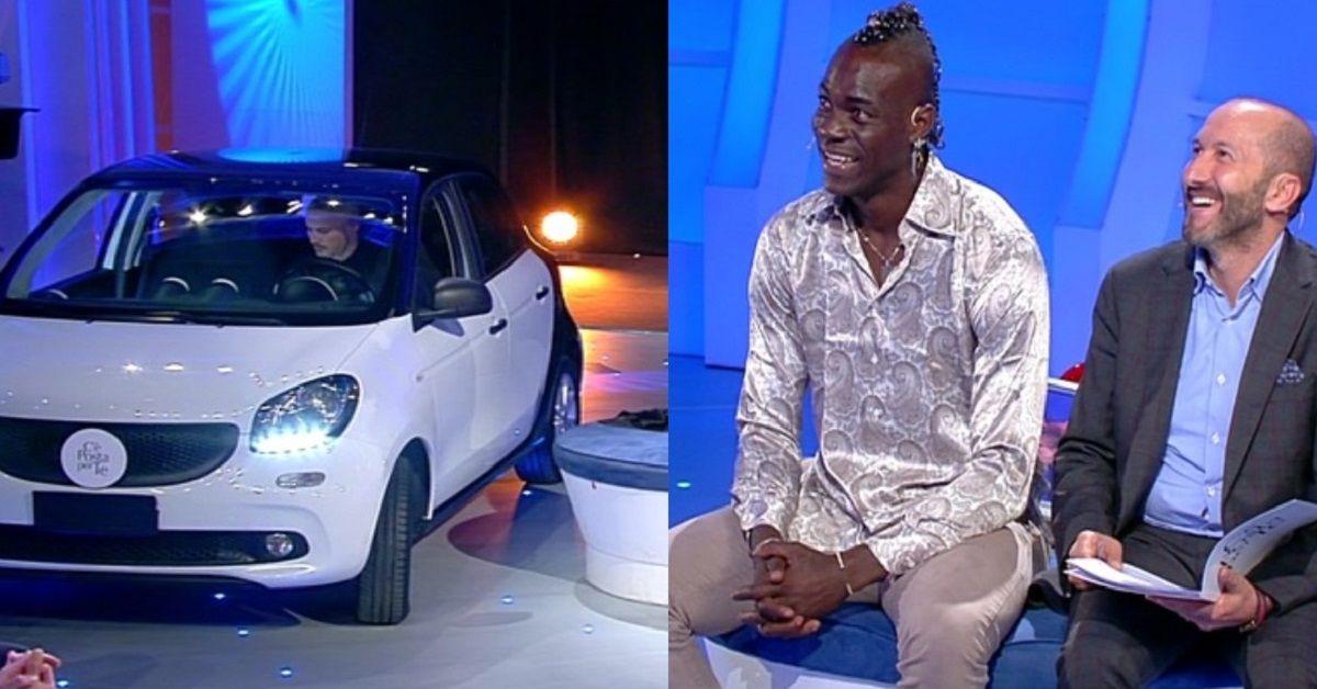 Balotelli firma il contratto di una macchina in diretta tv. Ecco a chi è rivolto il nobile gesto