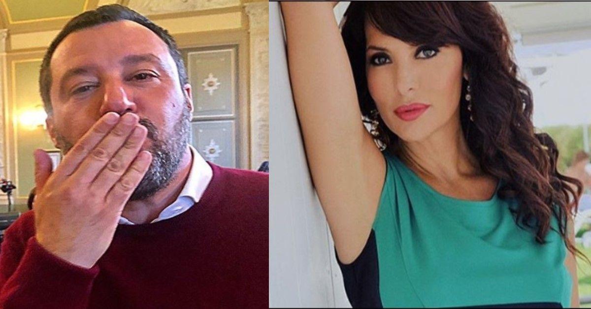 """Matteo Salvini """" Da giovane avevo il poster della Trevisan in camera"""" La showgirl reagisce aspramente"""