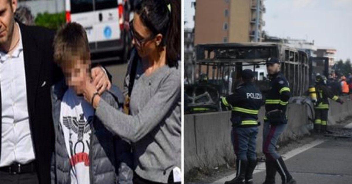 Il piccolo eroe si chiama Rami, grazie alla sua chiamata i suoi compagni sono stati tratti in salvo dal bus in fiamme