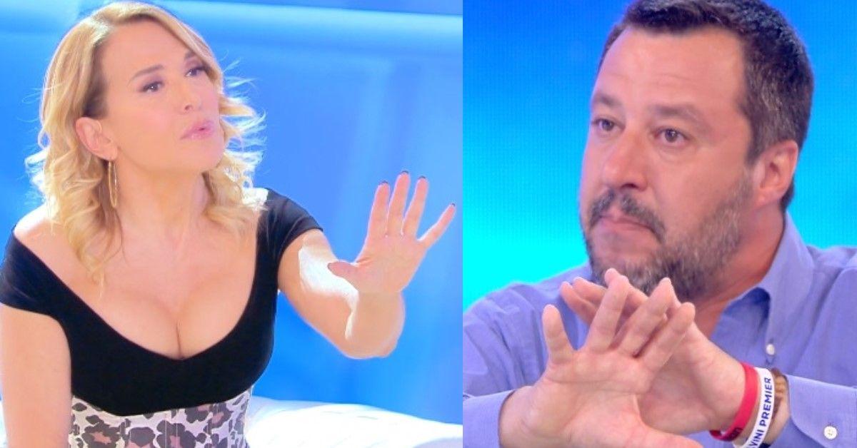 Barbara D'Urso mette in difficoltà Salvini con una domanda insidiosa. Ecco cosa ha chiesto.