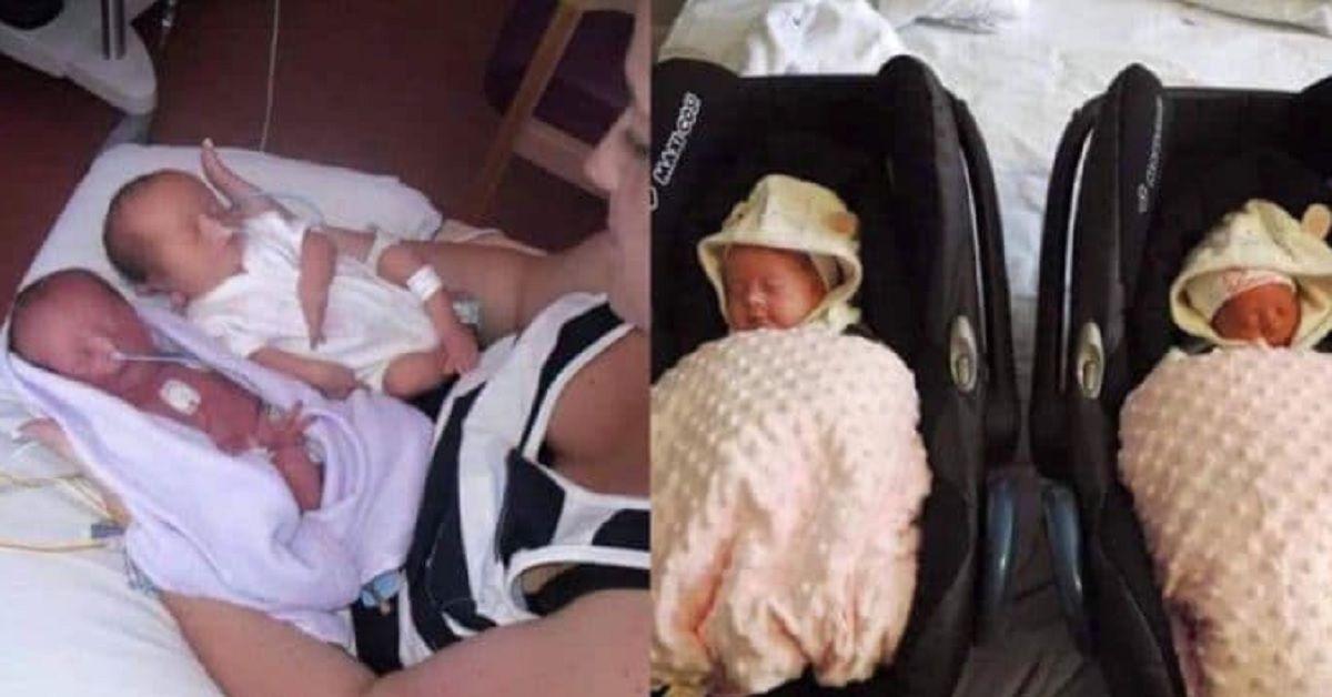 """La coppia era felice quando i loro gemelli sono nati, sono rimasti storditi quando il medico ha detto """"Mi dispiace"""""""