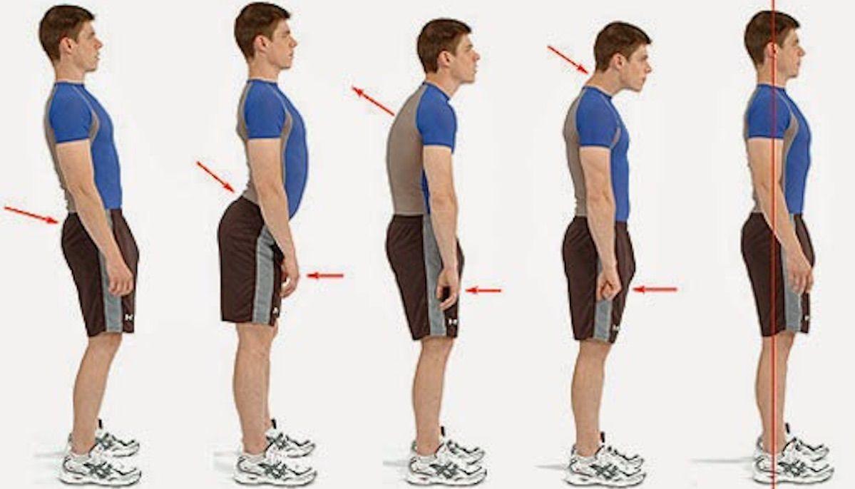 Come correggere la postura della schiena incurvata