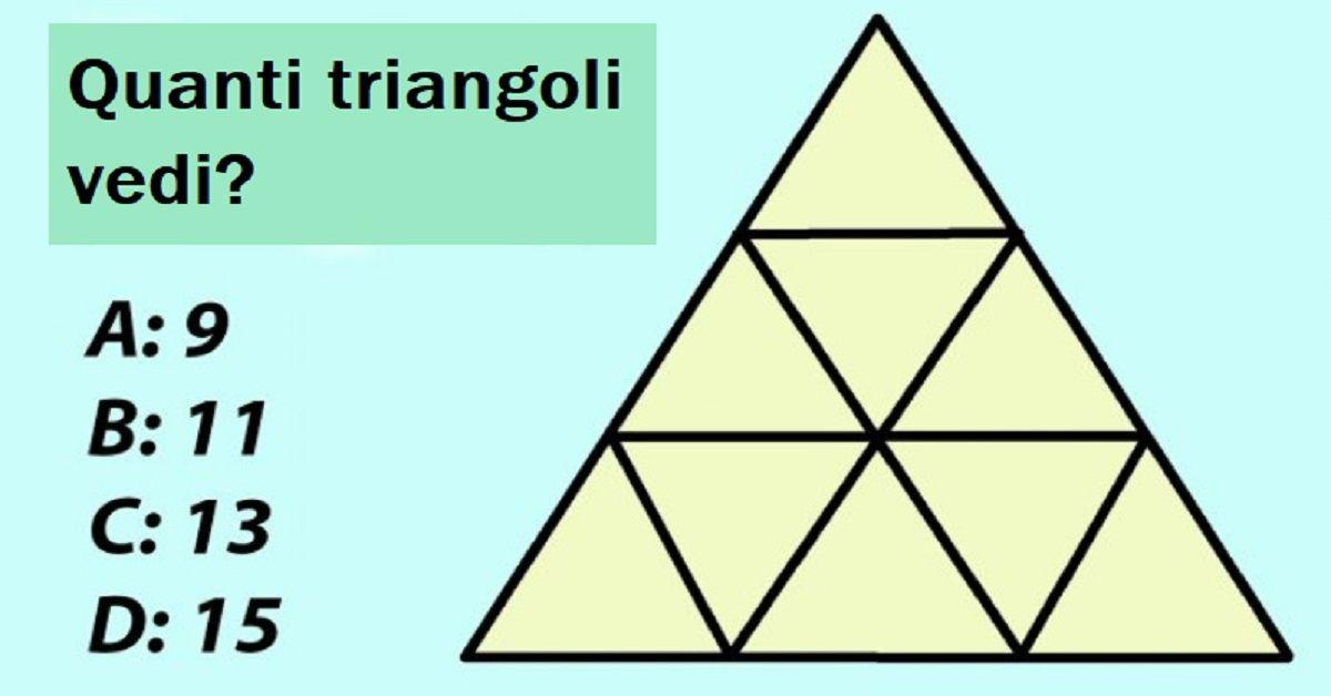 Quanti triangoli vedi? Se ne conti più di 9, hai un potere mentale notevole