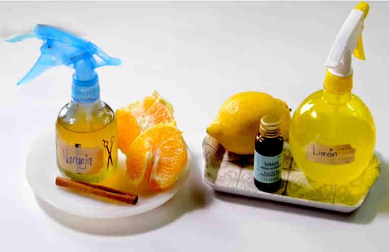 Come fare l'aceto con l'odore di arancia e cannella o limone e menta in modo che la tua casa sia perfettamente  pulita e profuma