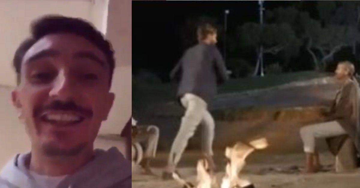 """Ciro Petrone commenta ironicamente la fuga di Alex Belli a Temptation Island """"Correre non è cosa tua"""". Il video"""