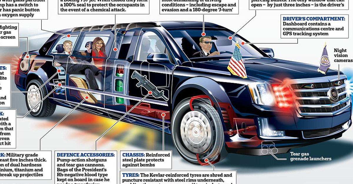 'La Bestia': Ecco l'auto che usa Donald Trump per i suoi viaggi istituzionali! All'interno si nascondono delle tecnologie alla 007