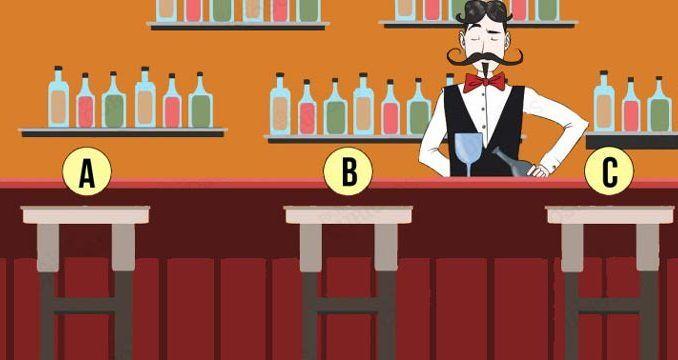 Se fossi solo in un bar … Dove ti siederesti? La risposta svela un carattere particolare della tua personalità