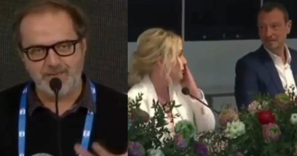 Lacrime durante la conferenza stampa di Sanremo 2020 per Antonella Clerici dopo le parole del direttore di Rai 1. Il video