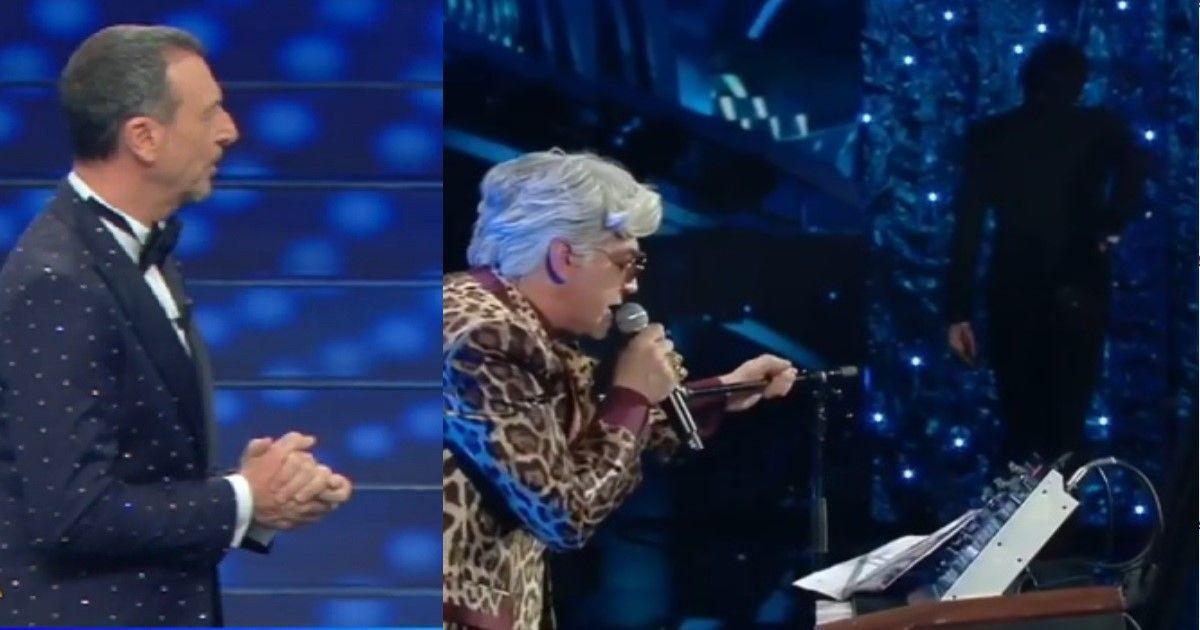 Bugo e Morgan squalificati dal festival di Sanremo. Ecco cosa è accaduto sul palco dell'Ariston all'1:46