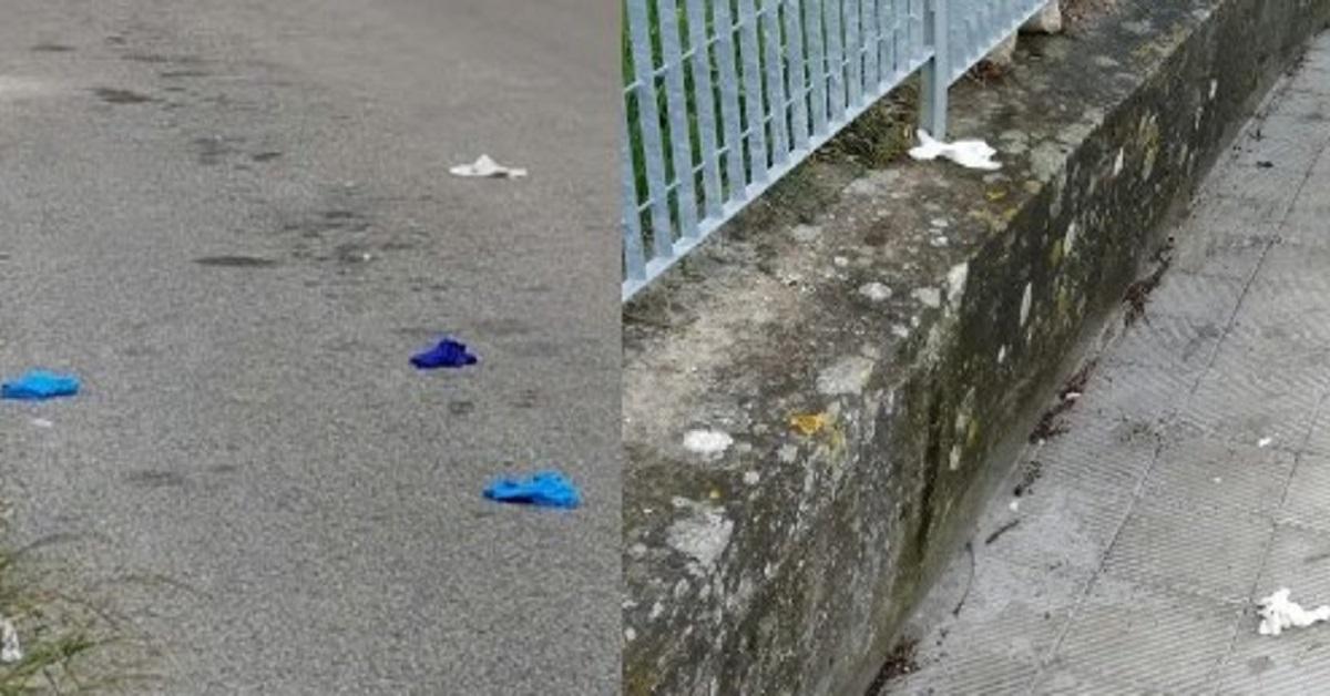 Non buttare mai guanti e mascherine a terra per strada, puoi peggiorare la situazione. Sii attento. Ecco cosa devi fare.