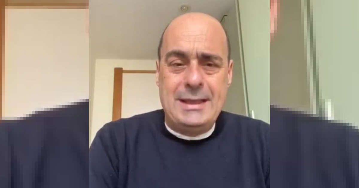 """Coronavirus, Zingaretti pochi minuti fa in video sul suo profilo: """"Ho iniziato la terapia antivirale e combattiamo!"""""""