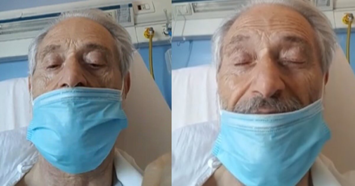 Amedeo Minghi ricoverato in ospedale in una diretta Facebook, con la voce bassa e gli occhi pieni di lacrime, si rivolge ai suoi fan.