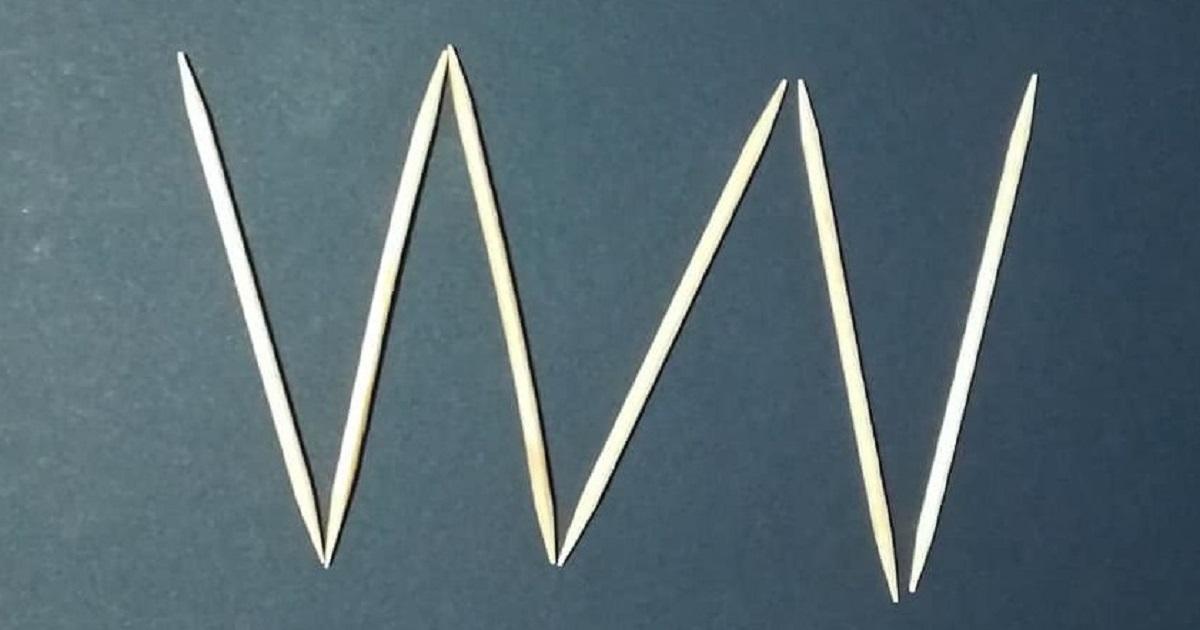 Con soli 6 stuzzicadenti, siete capaci di costruire 4 triangoli equilateri? Ecco la soluzione.