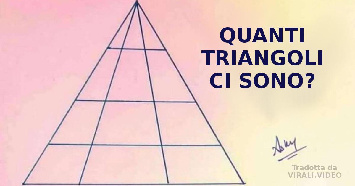Quanti triangoli vedete nell'immagine? La risposta è difficilissima, in pochi ci riescono!