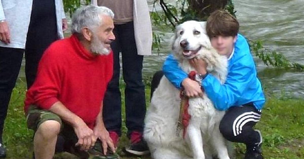14enne rischia la vita per salvare un cane trasportato dalla corrente.