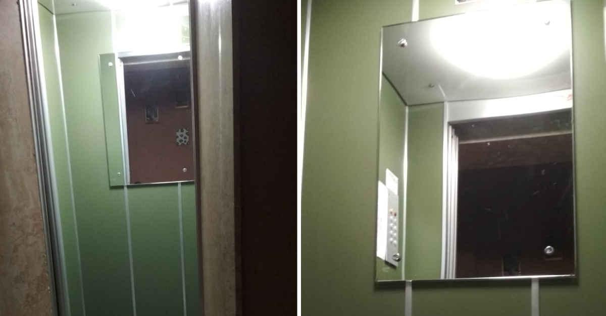 Sapete perché gli ascensori all'interno hanno degli specchi? Questa è la vera ragione
