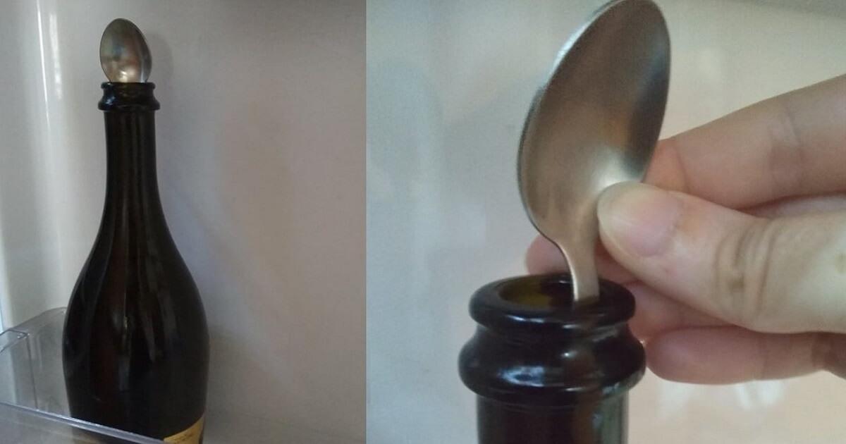 Avete mai messo un cucchiaino nella bottiglia di champagne? La verità su questo rimedio della nonna