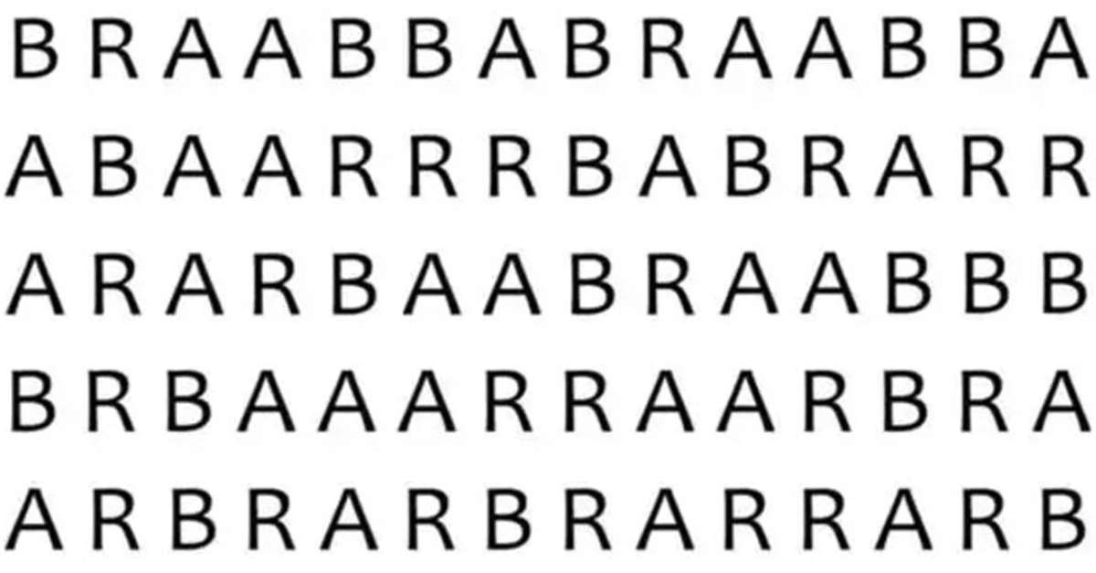 """Riesci a trovare la parola """"BAR""""? Quasi nessuno ci riesce in meno di 1 minuto"""