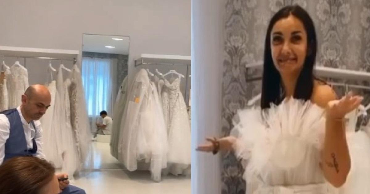 Elettra prova l'abito da sposa l'aggiornamento social con Enzo Miccio e Iconize piace ai fan. VIDEO