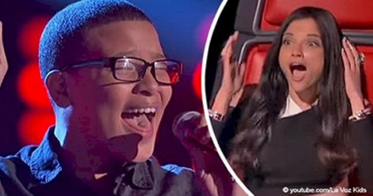 Con la sua voce sorprendente un ragazzino  ha sbalordito i giudici durante la sua esibizione a La Voz Kids 3