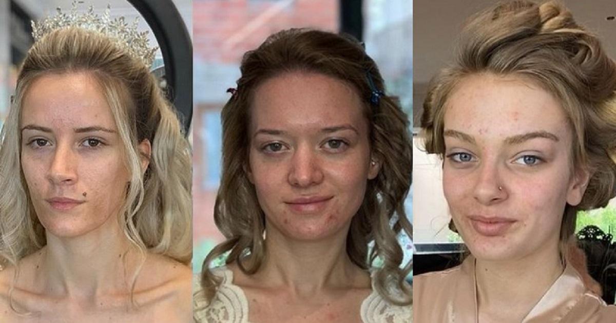 Che trasformazione! Il make up artist trucca delle spose: state a guardare il prima e il dopo