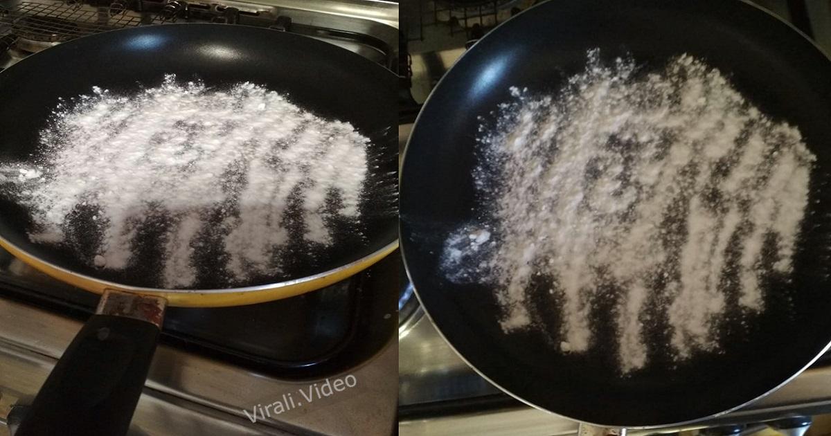 Il trucco fatto in casa per pulire le padelle. Torneranno come nuove.