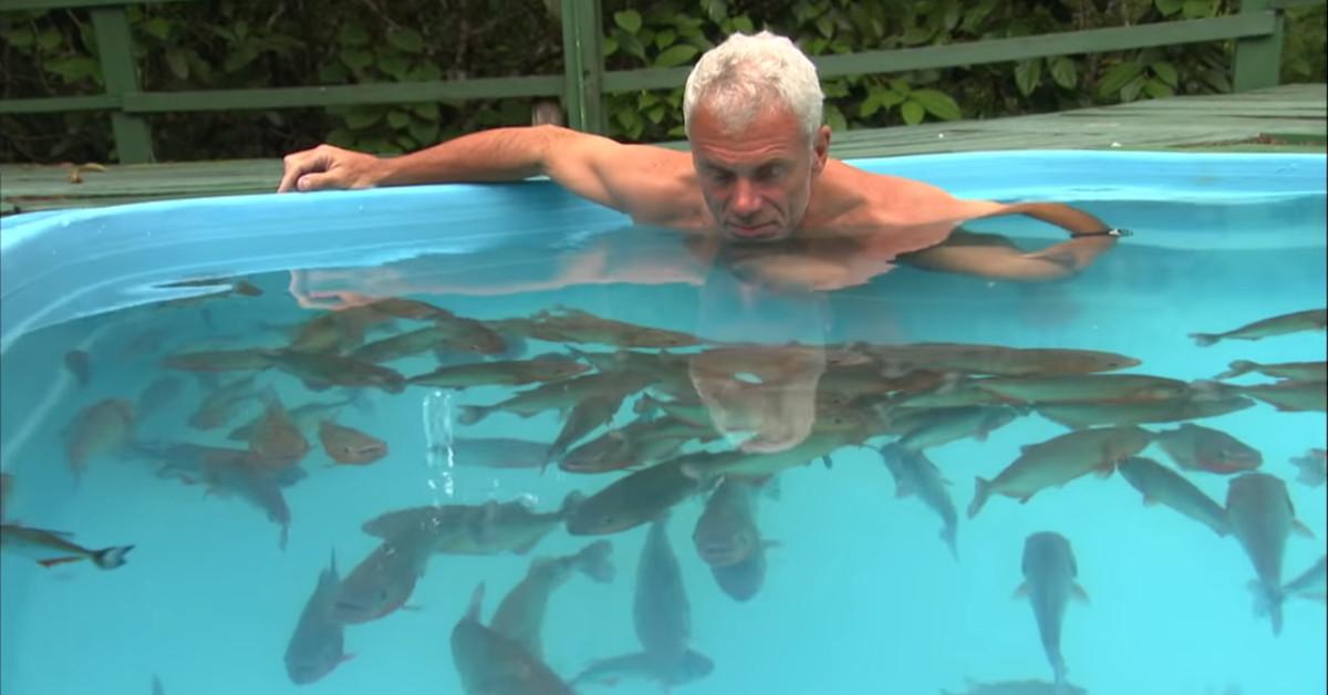 Un uomo è saltato in una piscina piena di piranha, quello che è successo ha lasciato tutti senza fiato