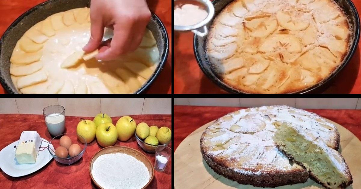 Una prelibatezza: Torta soffice alle mele in 10 semplici passaggi