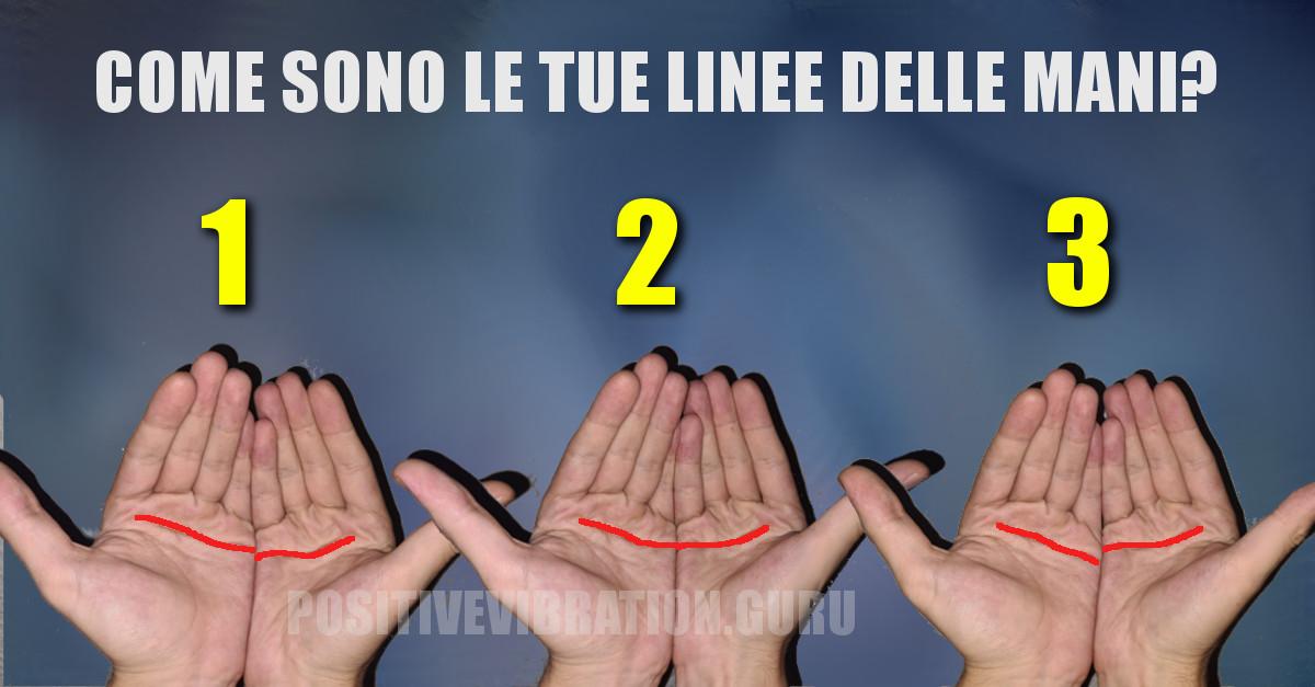 TEST: Come sono le linee sulla tua mano? il test che rivela i dati sul tuo modo di amare