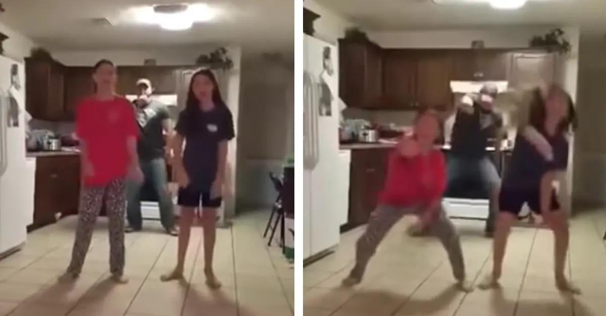 Il papà balla mentre le figlie registrano un video. Le sue movenze hanno conquistato tutti, raccogliendo milioni di views
