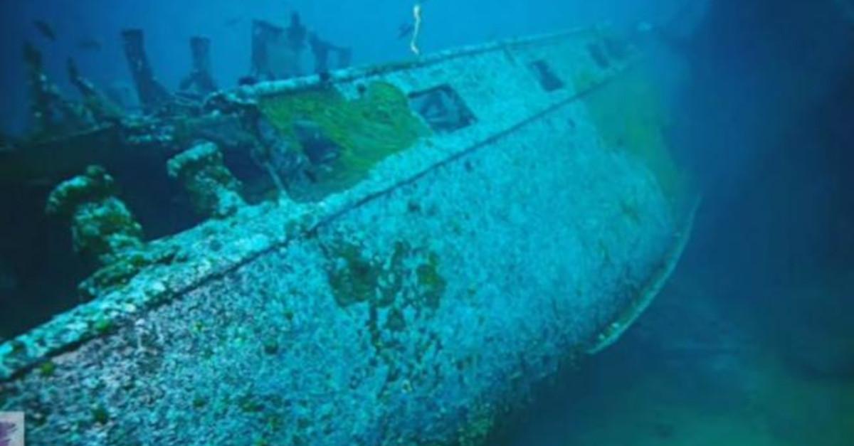 L'aspetto spettrale di una nave da guerra nazista affondata al largo delle coste della Norvegia [VIDEO]