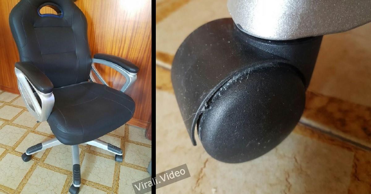 Il metodo per pulire le ruote della sedia da scrivania: ecco cosa fare
