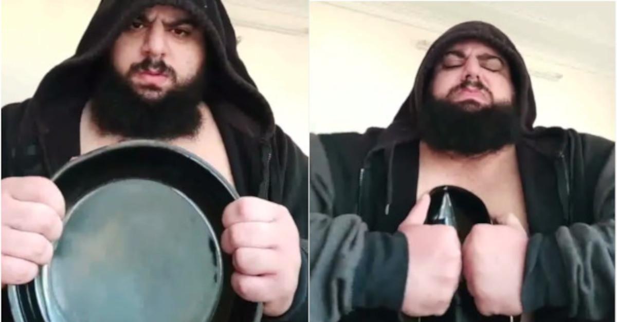 L'Hulk iraniano ha piegato una padella con la sua forza colossale! [VIDEO]