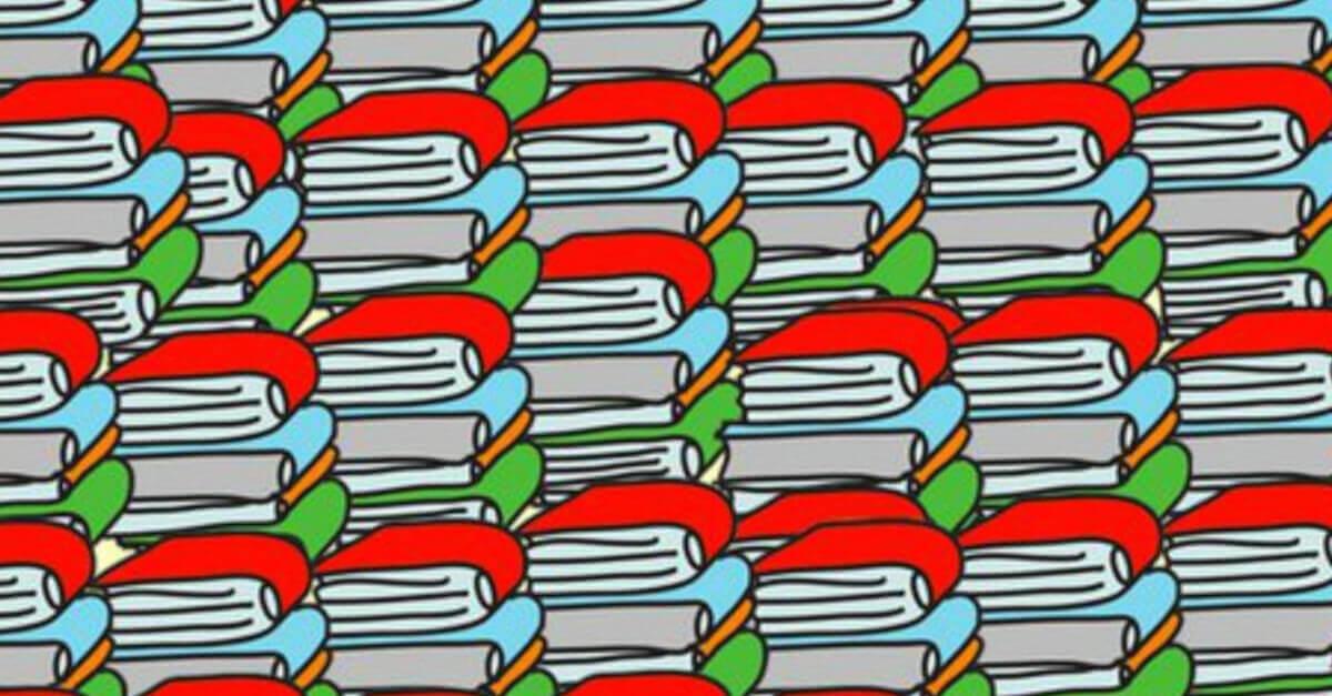 TEST VISIVO: Riesci a vedere la matita nascosta tra i libri? In pochissimi ci riescono, e tu?