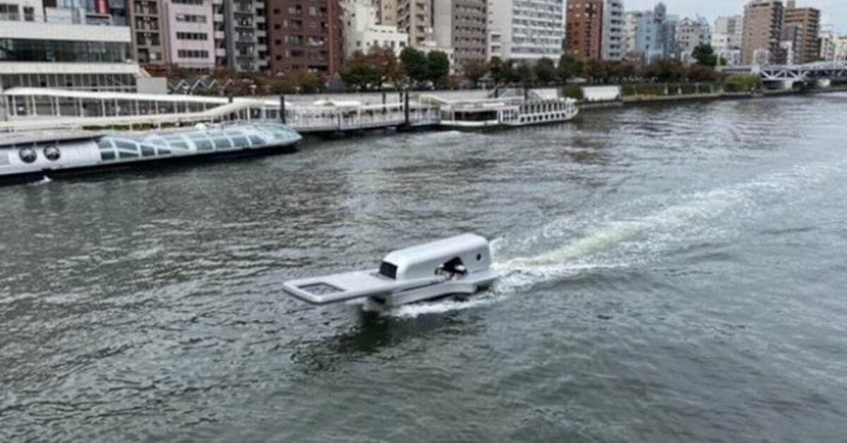 Progettano una barca con la forma di una cerniera che sembra aprire l'acqua sul suo percorso [VIDEO]