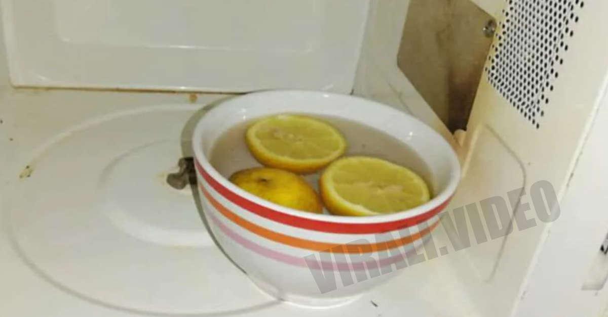 Come pulire il microonde con nient'altro che un limone