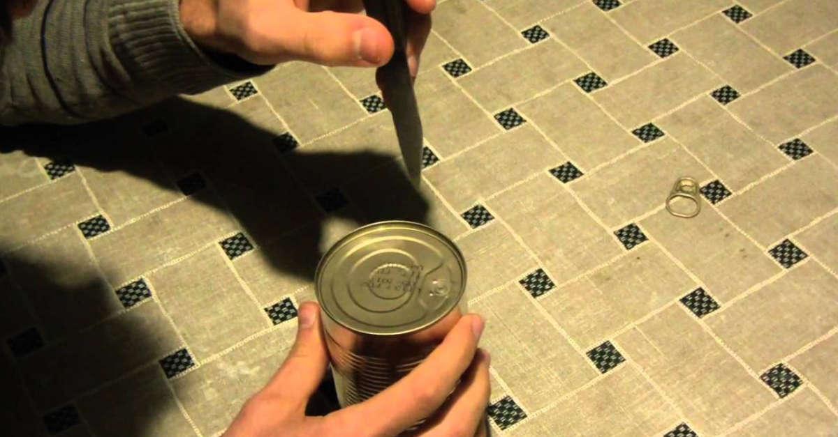 Come aprire una lattina senza apriscatole in pochi secondi