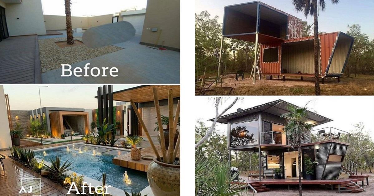 21 foto prima e dopo di case da sogno ristrutturate in modo impeccabile da esperti professionisti.