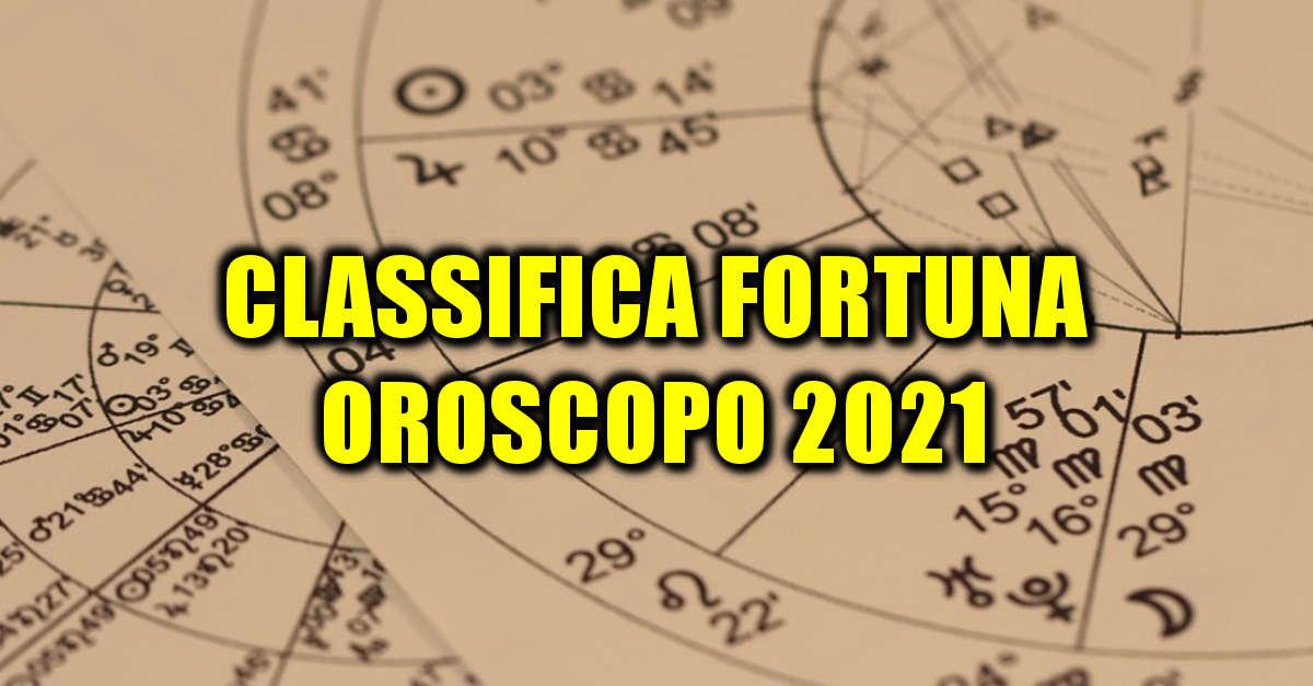 La classifica 2021 dei segni zodiacali dal più fortunato al più sfortunato