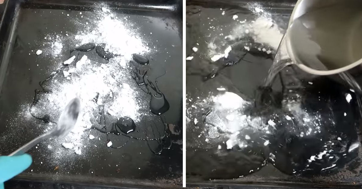 Come pulire la teglia del forno con il bicarbonato