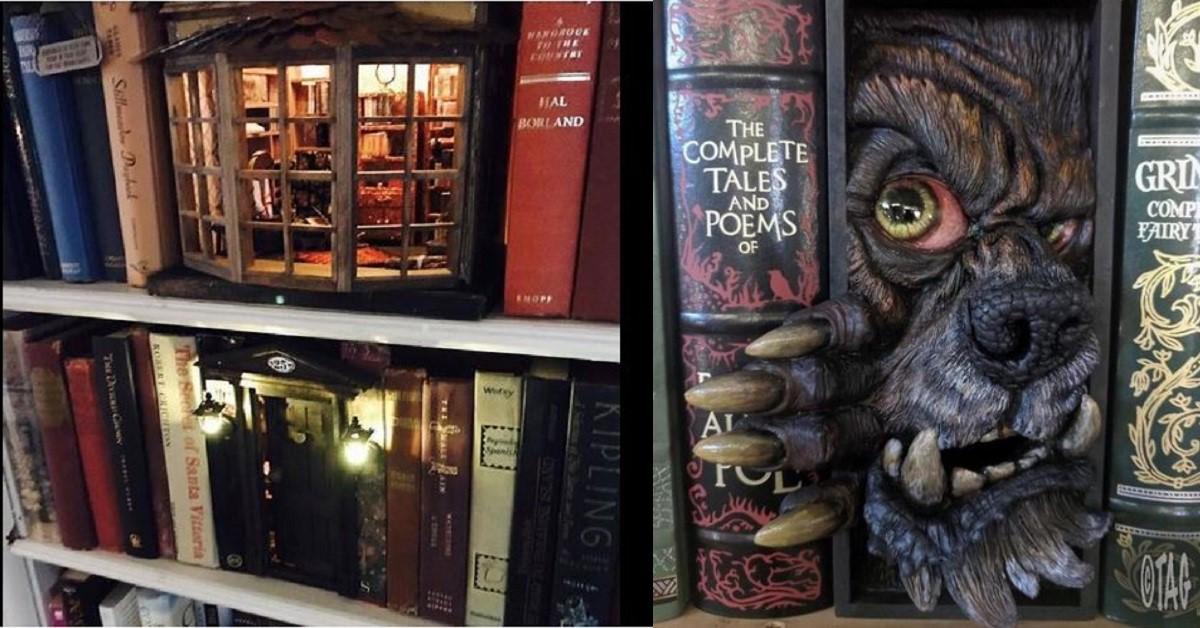 13 fantastiche e originali creazioni da inserire nelle libreria accanto ai libri di casa tua