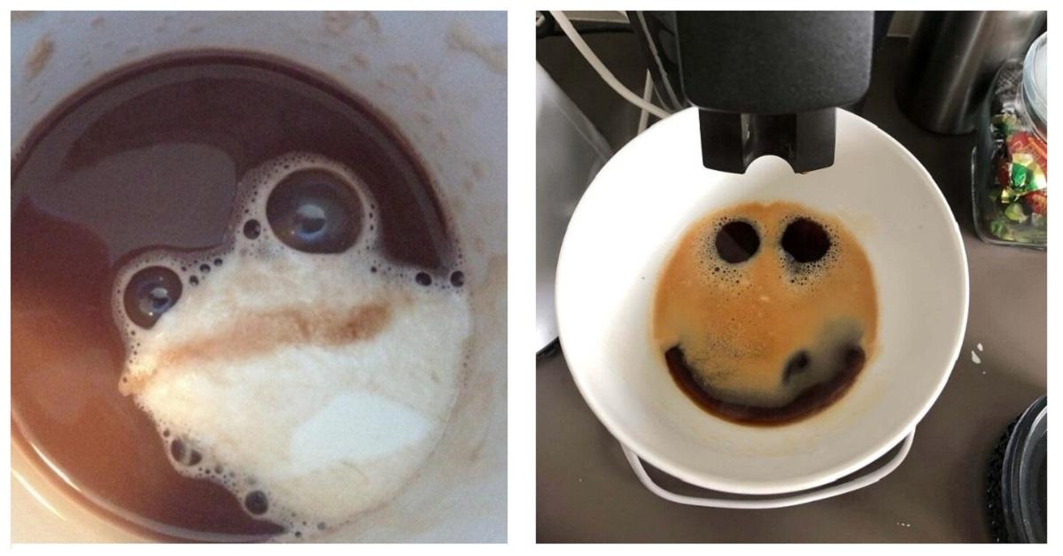 11 esempi di arte accidentale  spontaneamente prodotta dal caffè