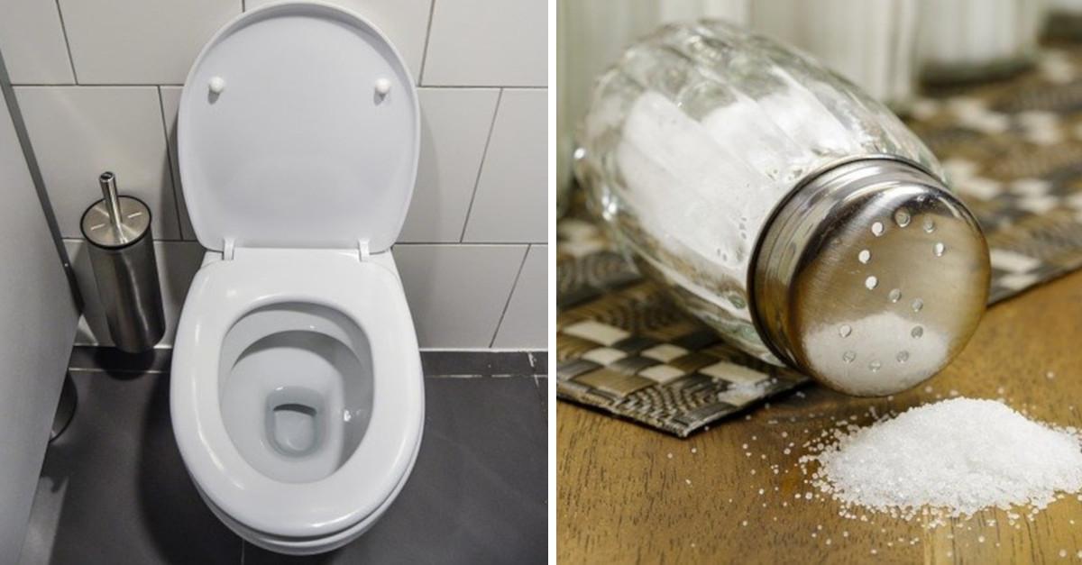 Il motivo per cui dovresti pulire il WC con il sale