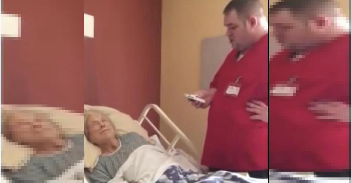 La donna morente sussurra il suo ultimo desiderio a un'infermiere. Che esaudisce il suo desiderio