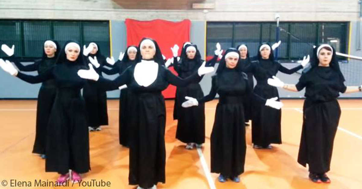 """12 """"suore"""" iniziano a ballare la Zumba e il video fa il giro del mondo, con 2 milioni di visualizzazioni"""