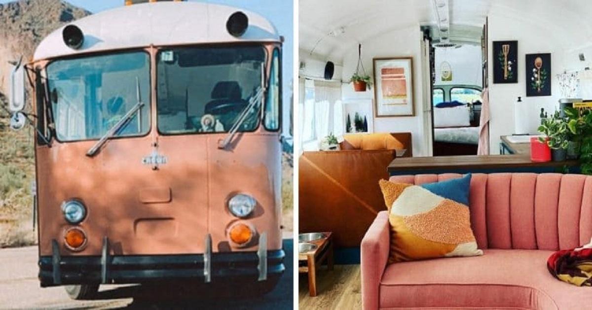 Due donne arredano un vecchio bus per trasformarlo nella loro dimora abitativa