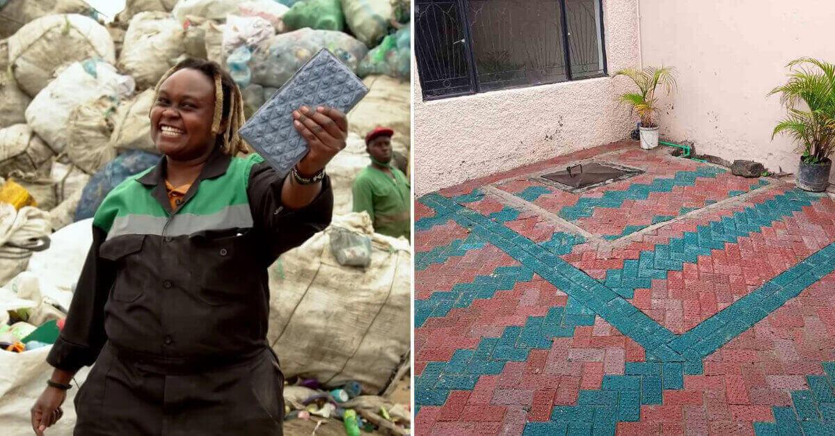Una donna Keniota trasforma la plastica in mattoni più resistenti del cemento