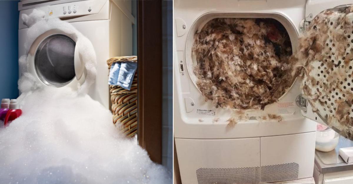 14 disastri avvenuti con la lavatrice, queste persone dovrebbero stare lontane dall'elettrodomestico